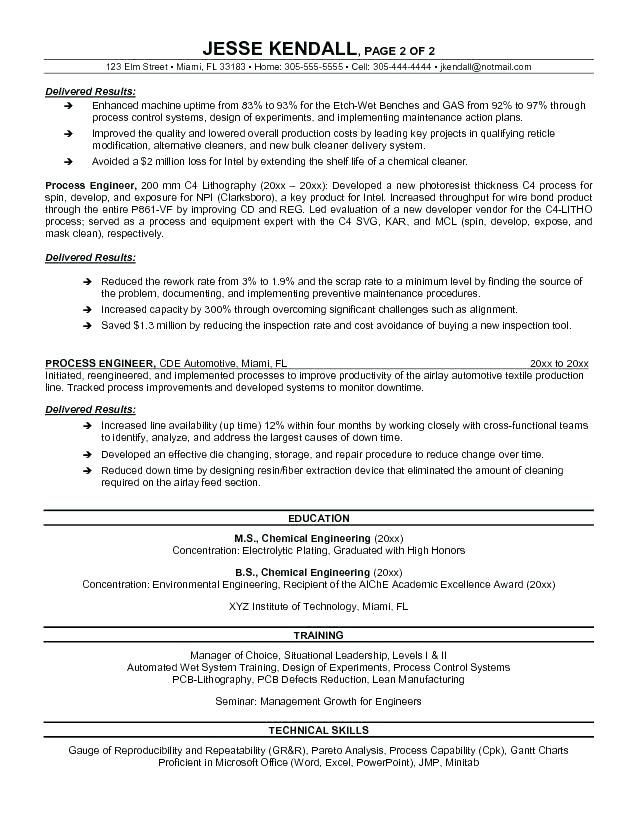 example for resume process engineer sample builder job examples architect summary current Resume Process Engineer Resume Summary