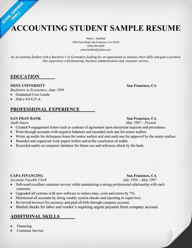 example of resume for accounting fresh graduate best examples sample cpa student medical Resume Sample Resume For Cpa Fresh Graduate