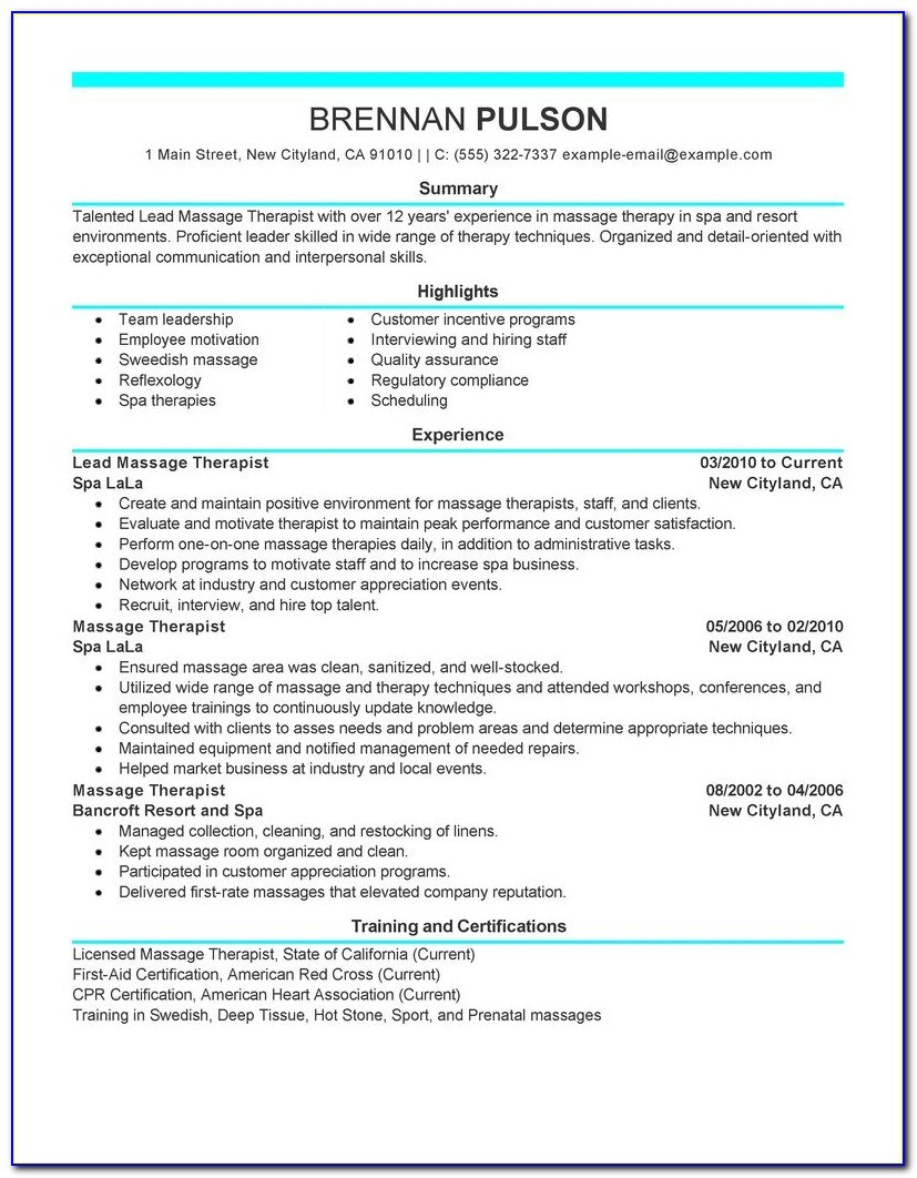 example respiratory therapist resume vincegray2014 massage for beginners formulation Resume Massage Therapist Resume For Beginners