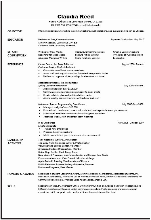 examples of communication skills for resume awesome munications sample career center job Resume Communications Internship Resume