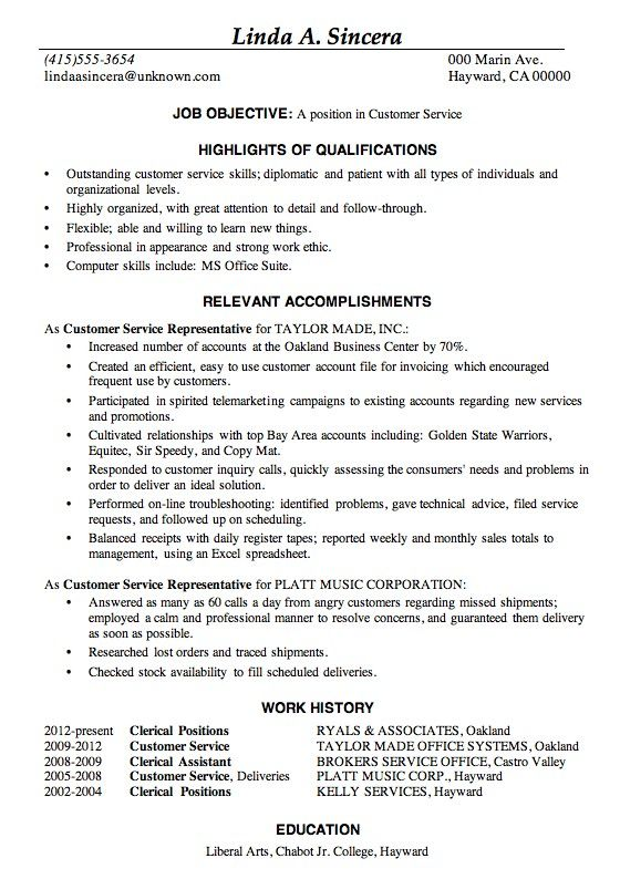 examples of good resumes best template collection customer service resume job samples the Resume The Muse Resume Templates