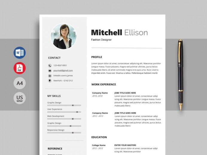 excel professional resume template word resumekraft format 1000x750 wgu project Resume Resume Format Excel Download