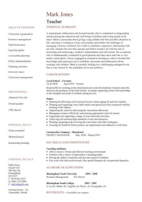 excellent teacher resume sample with the personal summery this is unique and outs Resume Outstanding Resume Examples