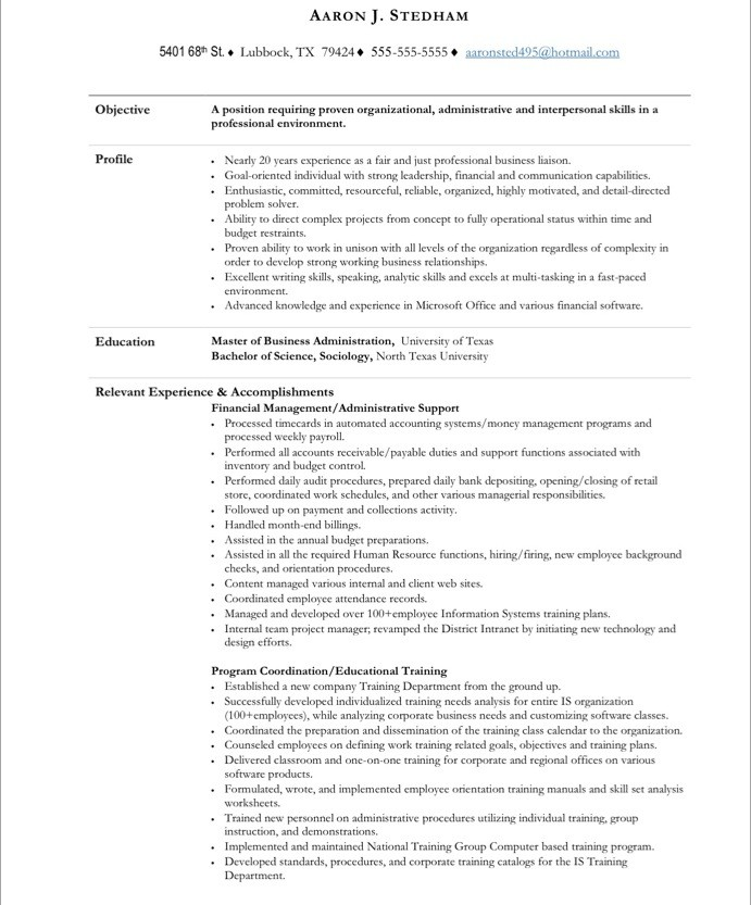 executive administrative assistant resume sample monster best writing verbs cpc examples Resume Free Resume Examples For Administrative Assistant