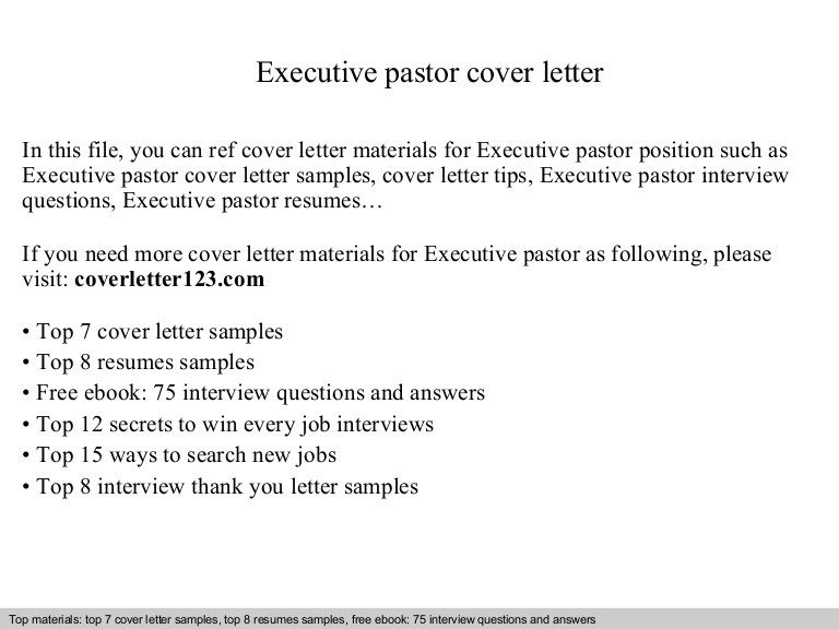 executive pastor cover letter sample ministry resume and executivepastorcoverletter Resume Sample Ministry Resume And Cover Letter