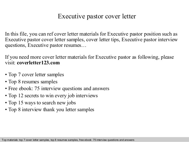 executive pastor cover letter sample ministry resume and med surg rn one year experience Resume Sample Ministry Resume And Cover Letter
