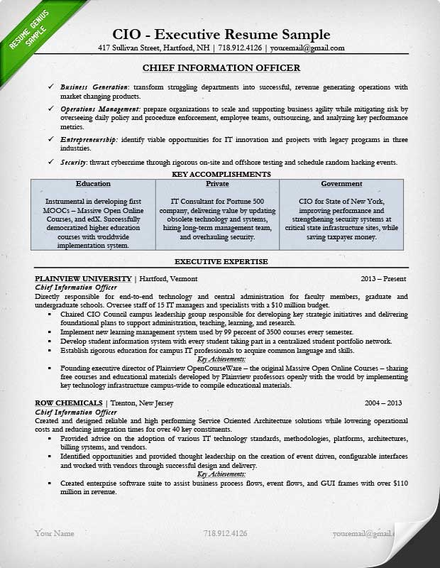 executive resume examples writing tips ceo cio cto sample file trainer templates Resume Executive Resume Examples