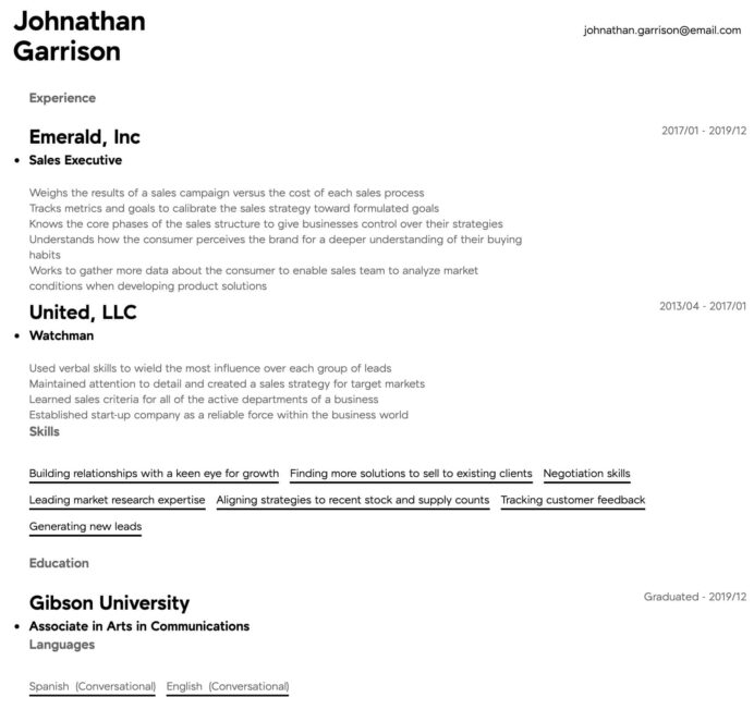 executive resume samples all experience levels examples intermediate templates wordpad Resume Executive Resume Examples