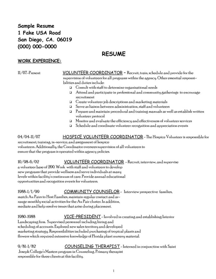 experience on resume comfortable volunteer examples of up to date expe job cover letter Resume Fake Volunteer Experience Resume