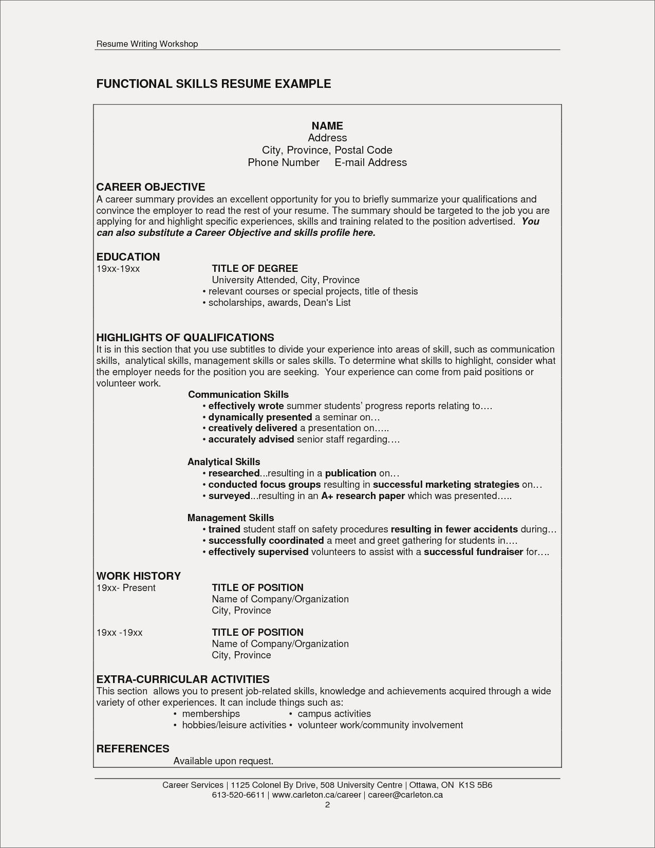 extra curricular activities for resume elegant co skills section good examples Resume Extracurricular Resume Format