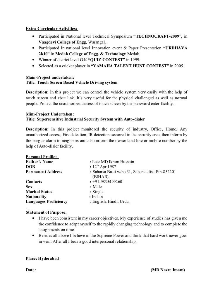 extracurricular activities resume template best examples format sample of for restaurant Resume Extracurricular Resume Format