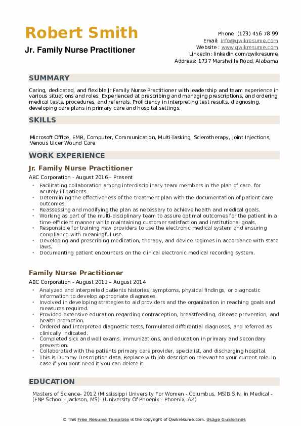 family nurse practitioner resume samples qwikresume sample for new pdf respiratory civil Resume Sample Resume For New Nurse Practitioner