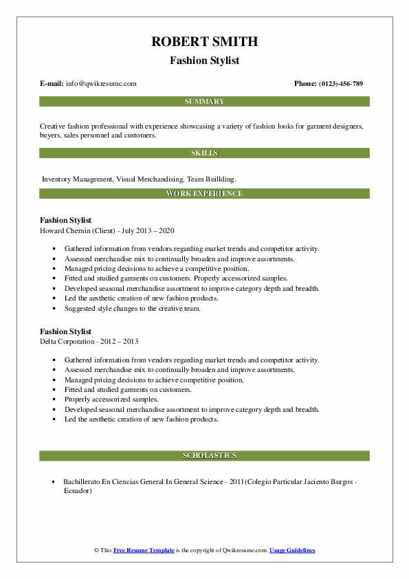 fashion stylist resume samples qwikresume summary pdf computer science template or Resume Fashion Stylist Resume Summary