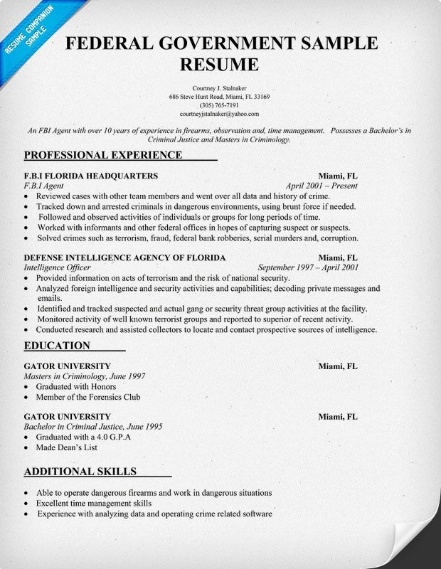 federal government resume template resumecompanion teacher examples job free summary for Resume Free Federal Resume Template