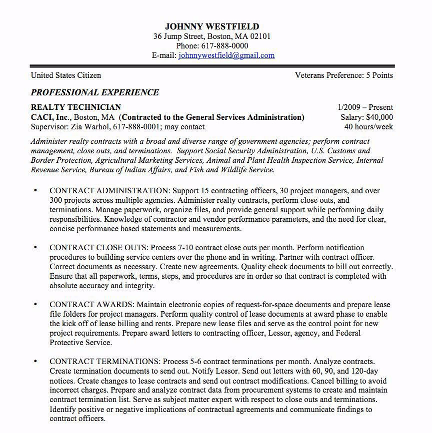 federal resume cover letter unique sample and format the place job template samples Resume Government Contracting Officer Resume