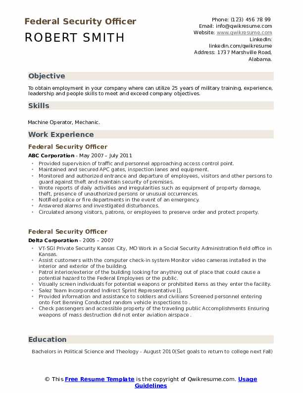 federal security officer resume samples qwikresume objective pdf should you put dates on Resume Security Officer Resume Objective