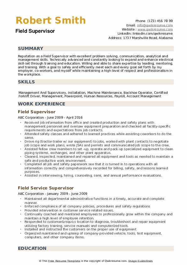 field supervisor resume samples qwikresume objective pdf small icons for support synonym Resume Supervisor Resume Objective Samples