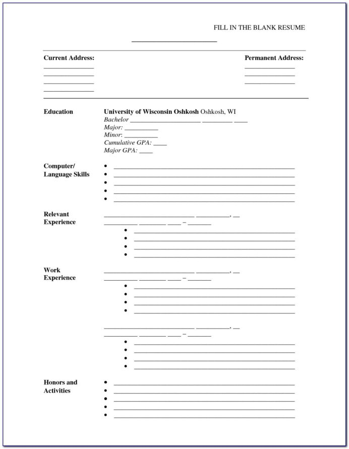 fill in the blank resume printable vincegray2014 form location of job does need an Resume Printable Blank Resume Form