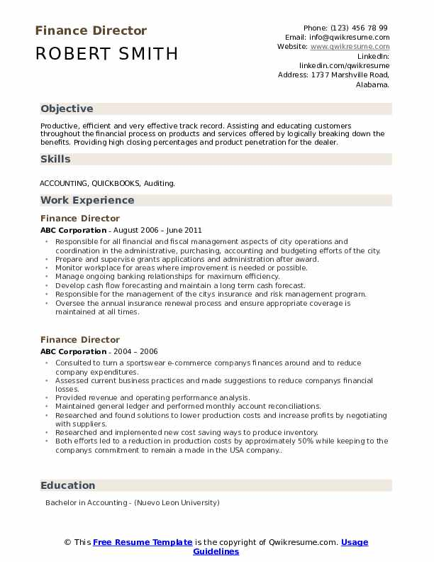 finance director resume samples qwikresume non profit objective examples pdf format for Resume Non Profit Resume Objective Examples