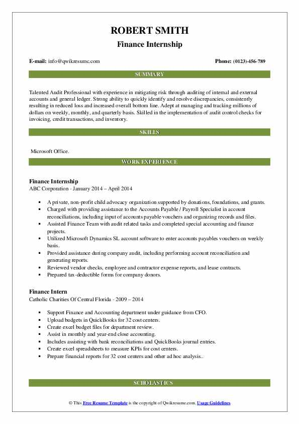 amazing finance resume examples livecareer mba internship manager executive chrono scaled Resume Mba Finance Internship Resume
