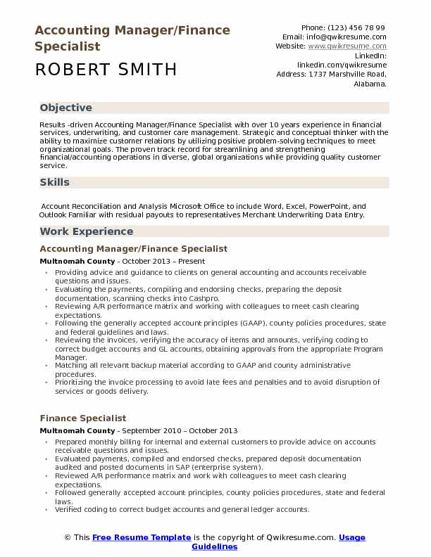 finance specialist resume samples qwikresume objective for pdf out of state job medical Resume Objective For Finance Resume
