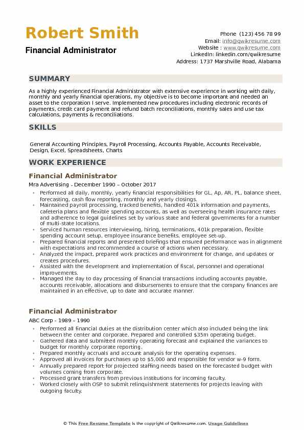 financial administrator resume samples qwikresume objective for finance pdf art college Resume Objective For Finance Resume