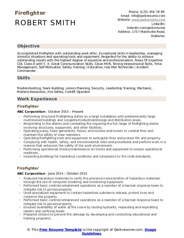 fire fighter resume samples qwikresume firefighter examples pdf oracle hrms techno Resume Firefighter Resume Examples