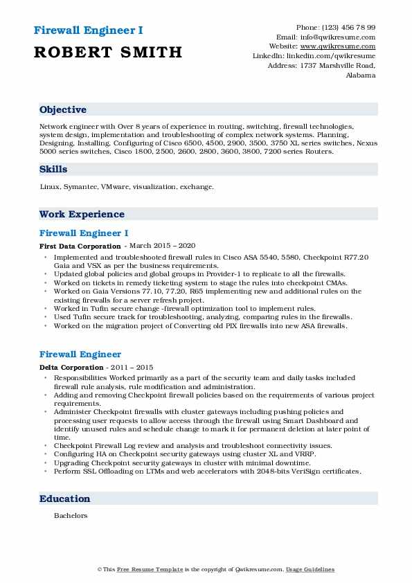 firewall engineer resume samples qwikresume checkpoint pdf for college admission medical Resume Checkpoint Firewall Engineer Resume