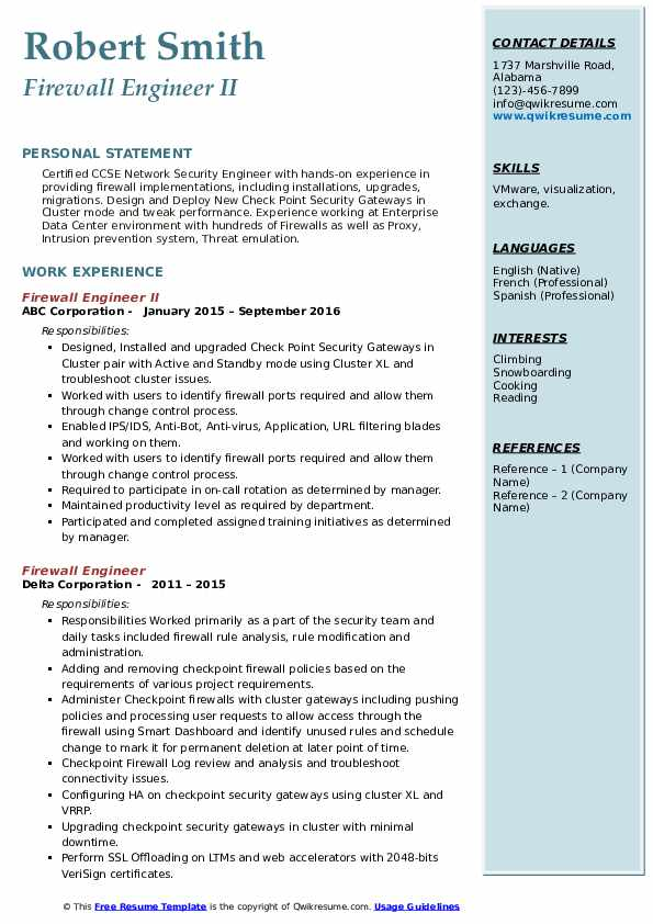 firewall engineer resume samples qwikresume checkpoint pdf for college admission Resume Checkpoint Firewall Engineer Resume
