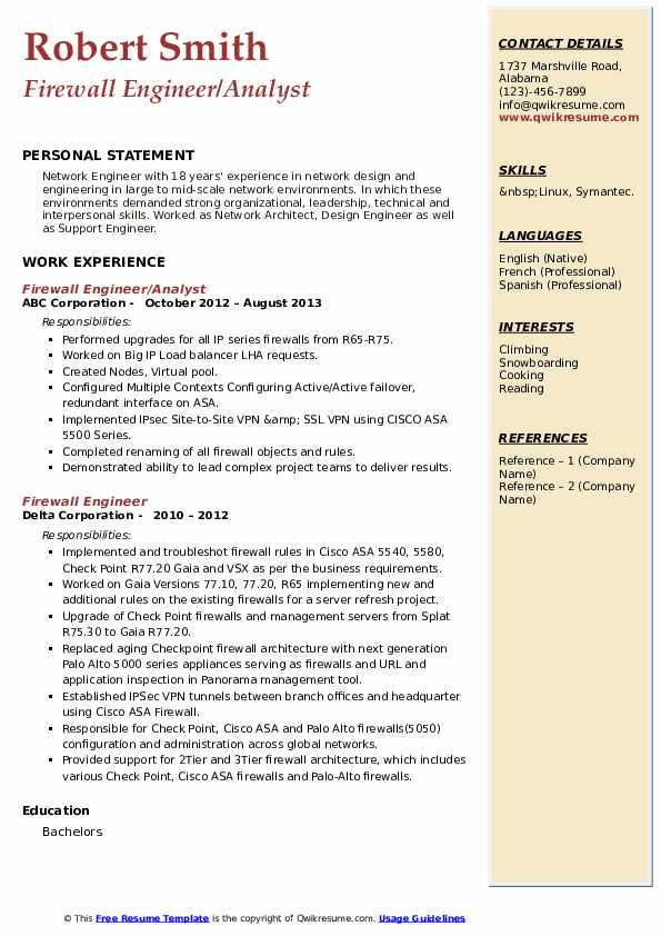 firewall engineer resume samples qwikresume checkpoint pdf reference sheet for tips Resume Checkpoint Firewall Engineer Resume