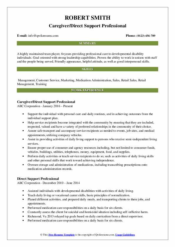 first job resume template free direct support professional examples bachelor of business Resume Direct Support Professional Resume Template