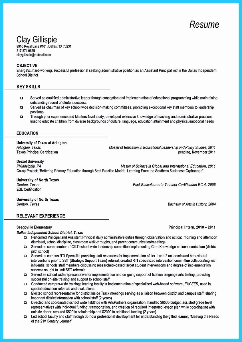 first time assistant principal resume beautiful an effective sample of cover letter Resume Assistant Principal Resume Cover Letter