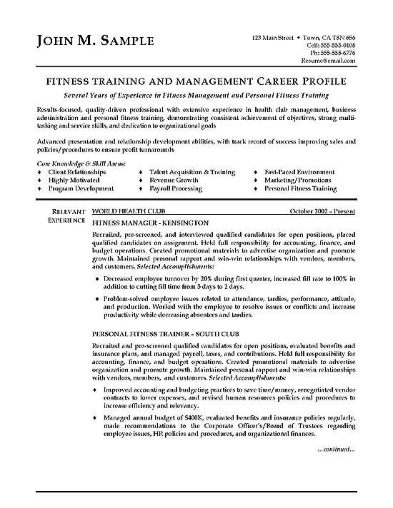 fitness trainer resume examples personal cover letter for position free photoshop Resume Resume For Trainer Position