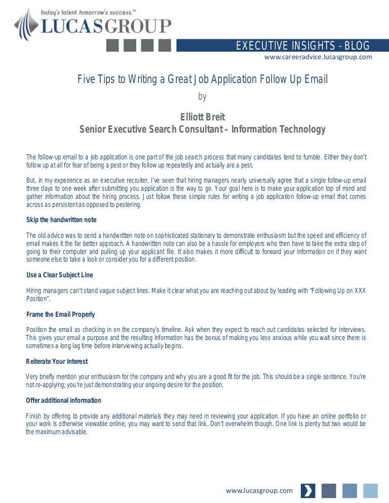 five tips to writing great job application follow up email example of after submitting Resume Example Of Follow Up Email After Submitting Resume