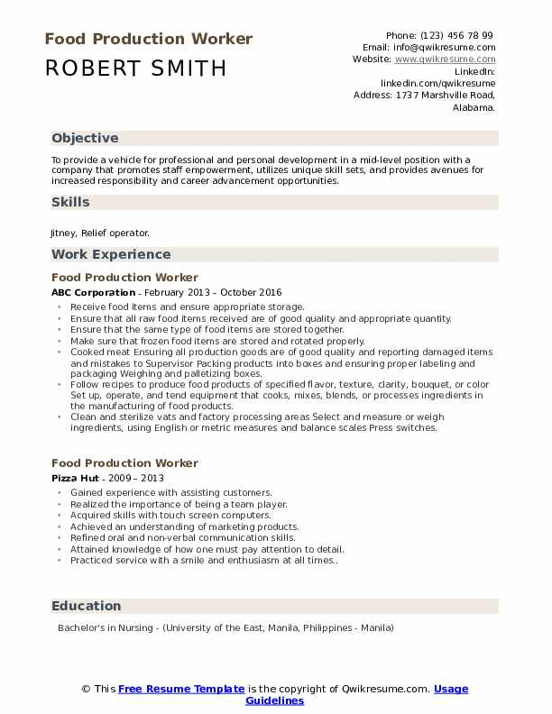 food production worker resume samples qwikresume summary examples for pdf data science Resume Resume Summary Examples For Production Worker
