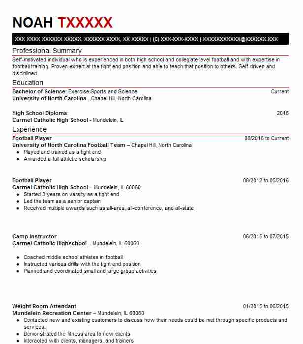 football player resume example objective spring sample proven record concise format Resume Football Player Resume Sample