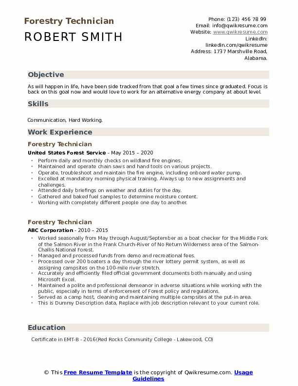 forestry technician resume samples qwikresume example pdf for fellowship sample build Resume Forestry Resume Example