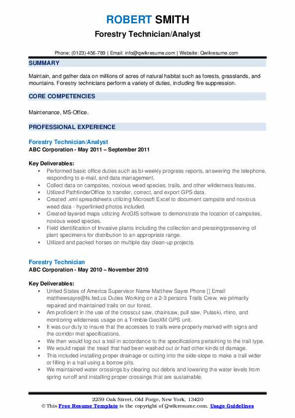 forestry technician resume samples qwikresume example pdf some good headlines information Resume Forestry Resume Example