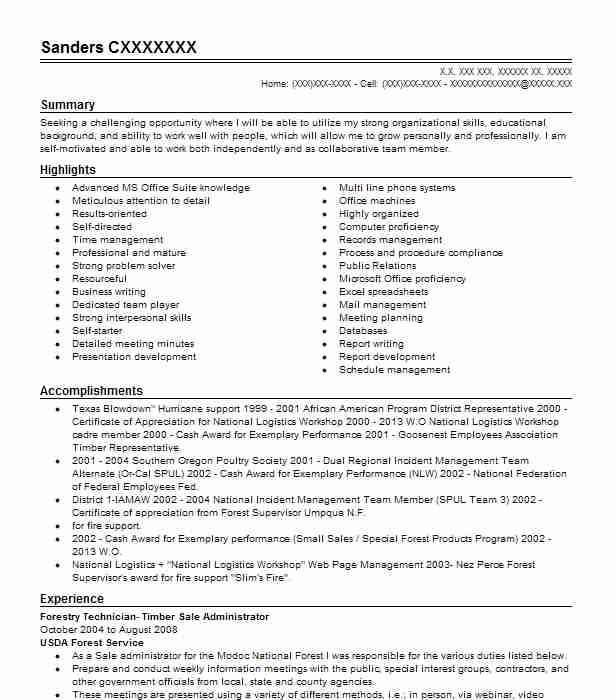forestry technician timber resume example us service boerne modern examples graphic Resume Forestry Resume Example
