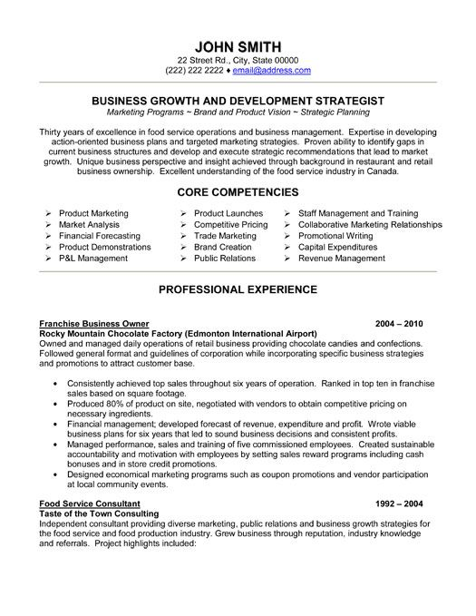 franchise business owner resume template premium samples example analyst executive Resume Professional Resume Services Edmonton