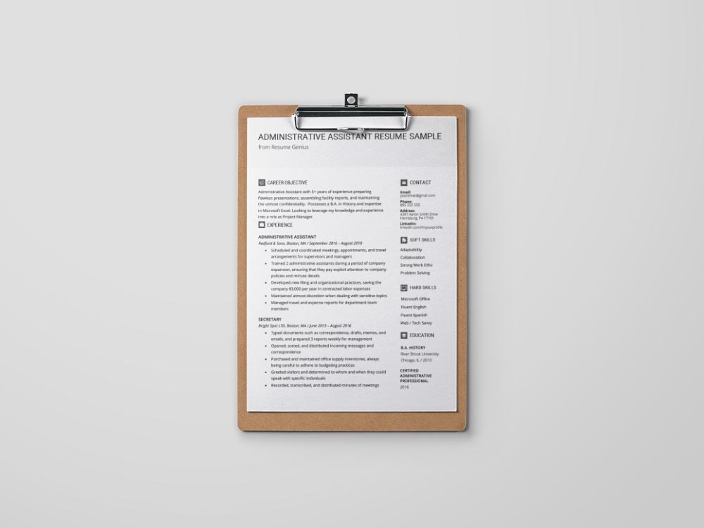 free administrative assistant resume template with sample text examples for example Resume Free Resume Examples For Administrative Assistant