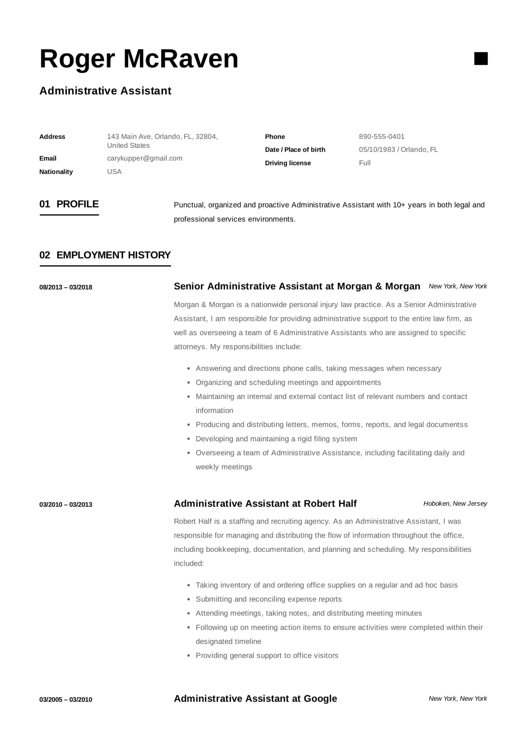 free administrative assistant resumes writing guide pdf example resume of background Resume Example Resume Of Administrative Assistant