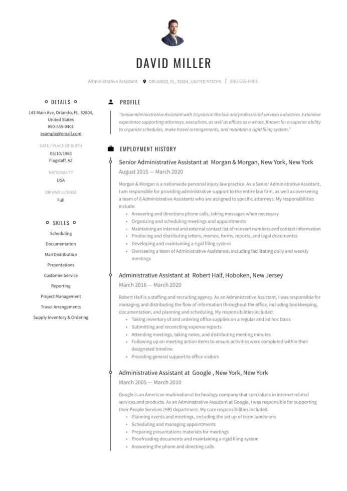 free administrative assistant resumes writing guide pdf resume examples for scaled Resume Free Resume Examples For Administrative Assistant