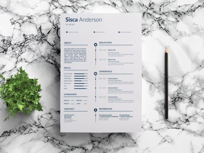 free artist resume template with clean and professional look architecture graduate scp Resume Artist Resume Template Free Download