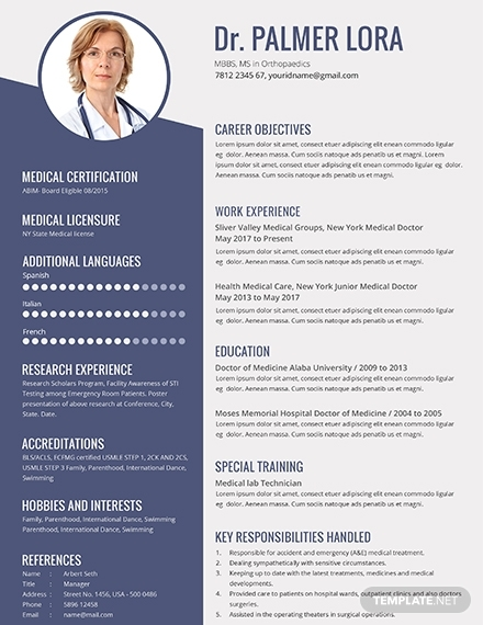 free best medical resume examples templates now doctor example template dock worker Resume Medical Doctor Resume Example