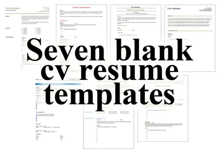 free blank cv resume templates for get printable microsoft word seven your skills public Resume Printable Blank Resume Form