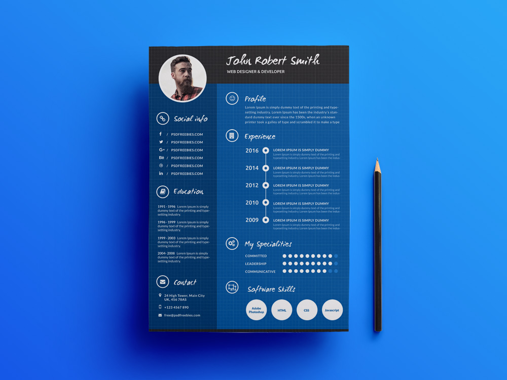 free creative resume template with professional design and chic templates examples Resume Creative And Professional Resume