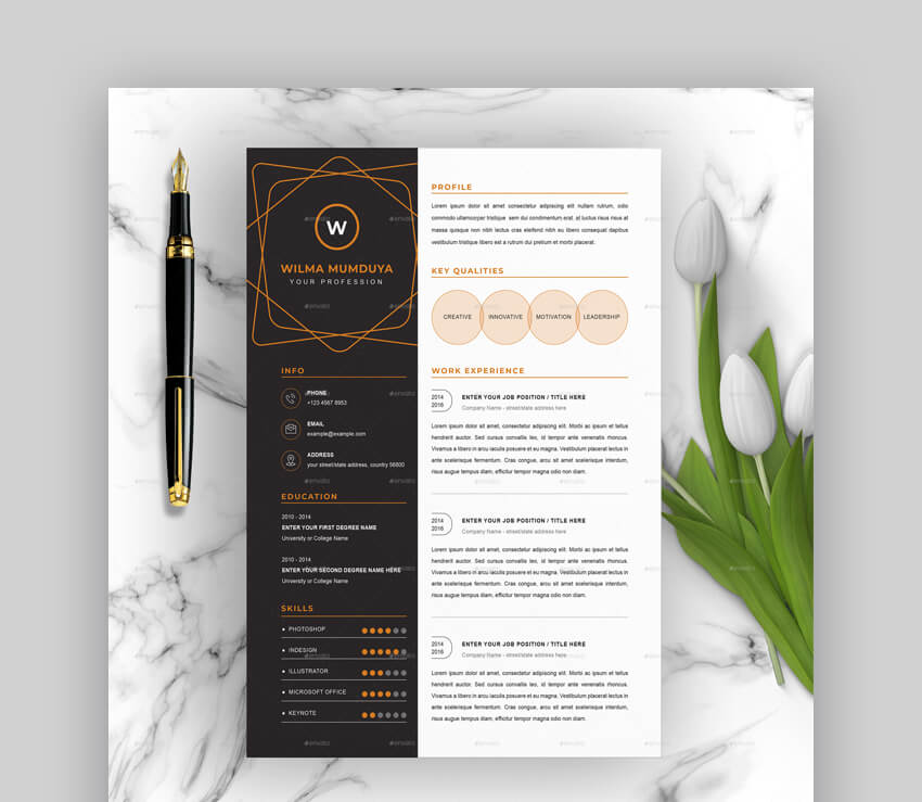 free creative resume templates word downloads for and professional template chic writing Resume Creative And Professional Resume