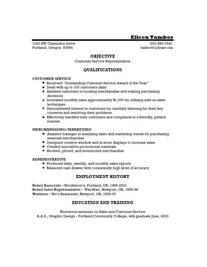 free customer service resume examples template downloads retail samples radiologic Resume Customer Service Resume Template Free