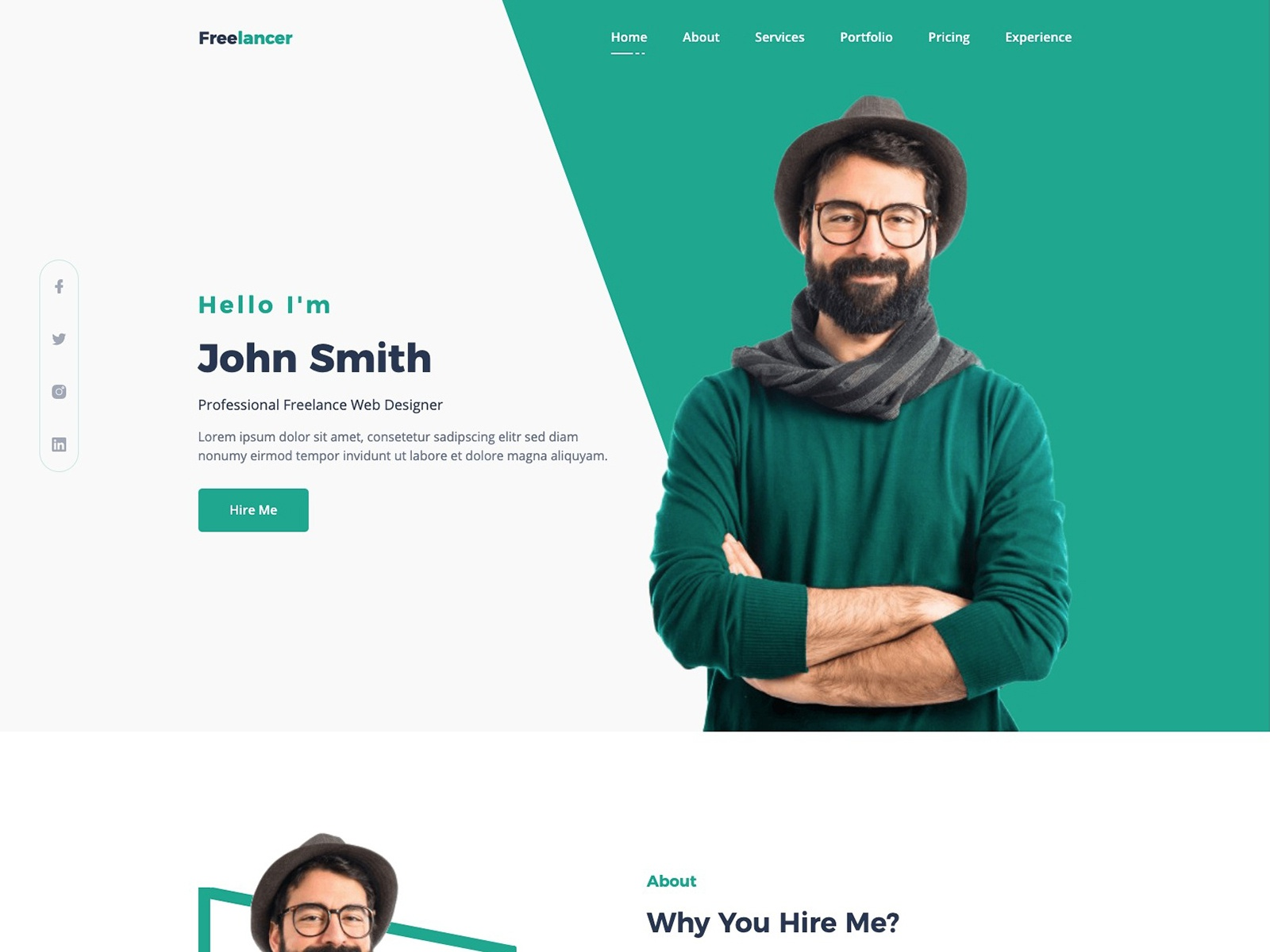 free cv resume portfolio and personal profile template search by muzli preview government Resume Resume Portfolio Template Free